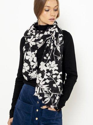 Čierny kvetovaný šál CAMAIEU
