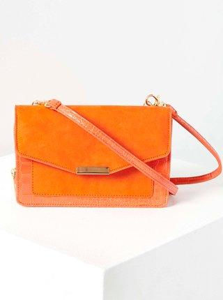Oranžová crossbody kabelka v semišové úpravě CAMAIEU