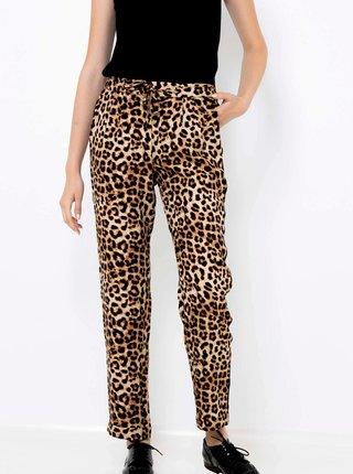 Béžové kalhoty s leopardím vzorem CAMAIEU