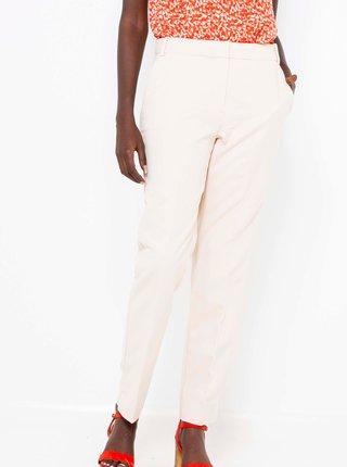 Krémové kalhoty CAMAIEU