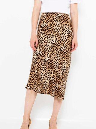Hnedá vzorovaná sukňa CAMAIEU