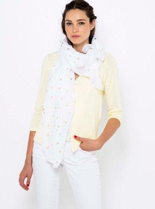 Bílý vzorovaný šátek CAMAIEU