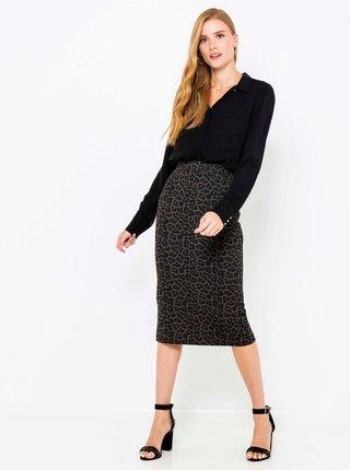 Šedá sukně s leopardím vzorem CAMAIEU
