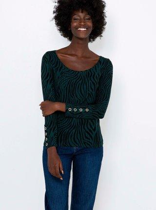 Zelené tričko se zebřím vzorem CAMAIEU