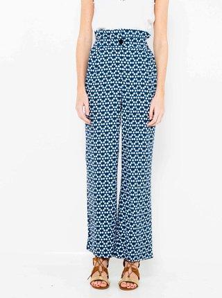 Modré vzorované nohavice CAMAIEU