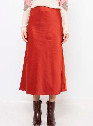 Červená midi sukně CAMAIEU