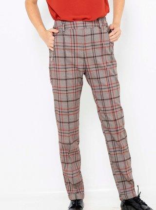 Šedé kostkované kalhoty CAMAIEU