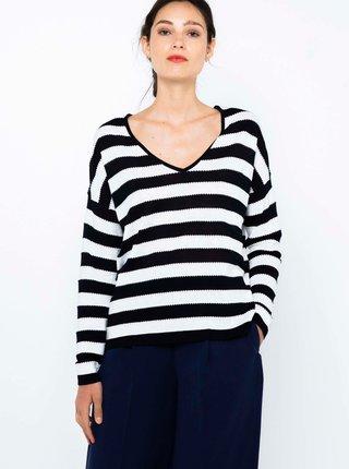 Černo-bílé pruhované tričko CAMAIEU