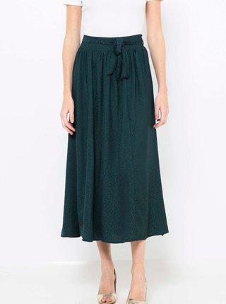 Zelená vzorovaná midi sukně CAMAIEU