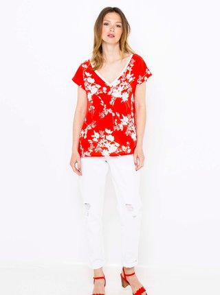 Červené květované tričko CAMAIEU