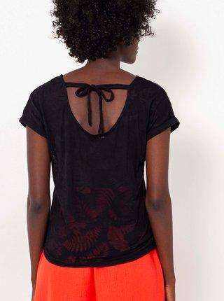 Čierne vzorované tričko CAMAIEU