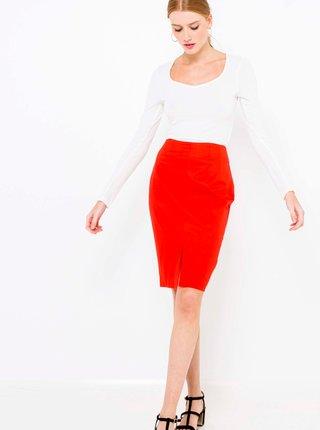 Červená sukňa CAMAIEU