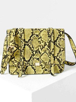 Zelená crossbody kabelka s hadím vzorom CAMAIEU