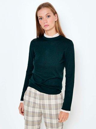 Zelený ľahký sveter s vsadkou CAMAIEU