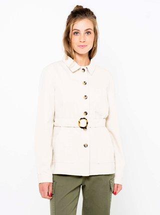Krémový krátký kabát CAMAIEU