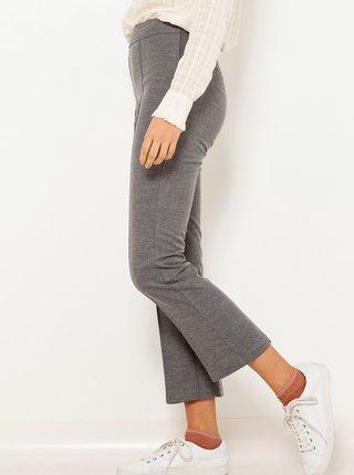 Tmavě šedé zkrácené kalhoty CAMAIEU