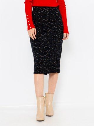 Čierna bodkovaná sukňa CAMAIEU