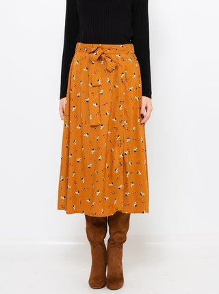 Hořčicová vzorovaná sukně CAMAIEU
