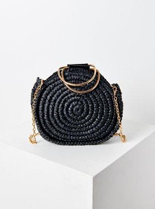 Čierna slamená crossbody kabelka CAMAIEU