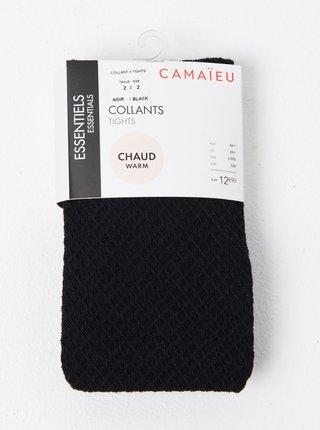 Čiern vzorované pančuchové nohavice CAMAIEU