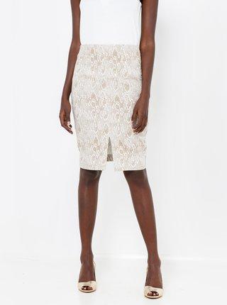 Šedá vzorovaná sukně CAMAIEU