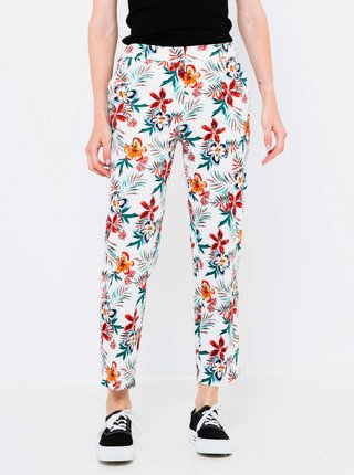 Bílé květované kalhoty CAMAIEU