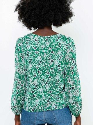 Zelená květovaná halenka CAMAIEU