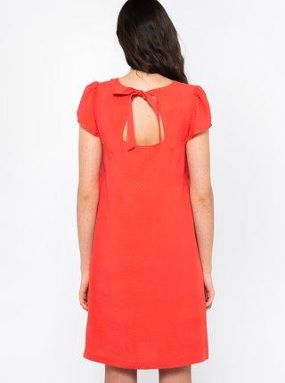 Oranžové šaty se zavazováním na zádech CAMAIEU