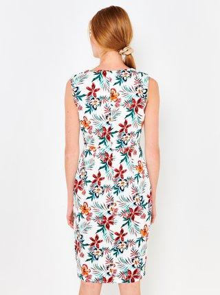 Biele kvetované šaty CAMAIEU