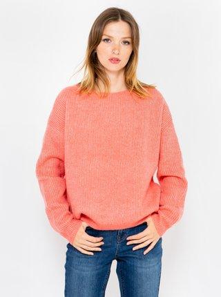 Tmavoružový sveter CAMAIEU