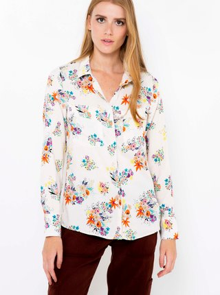 Biela kvetovaná košeľa CAMAIEU