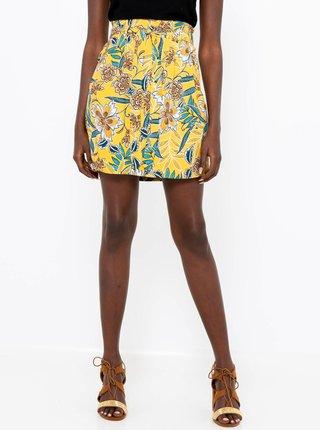 Žlutá květovaná sukně CAMAIEU