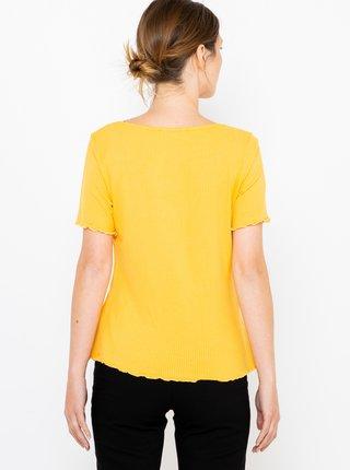 Žluté žebrované tričko CAMAIEU