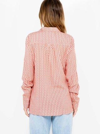 Bielo-červená pruhovaná košeľa CAMAIEU