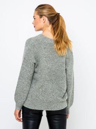 Šedý svetr s véčkovým výstřihem CAMAIEU