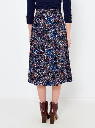 Tmavomodrá vzorovaná sukňa CAMAIEU