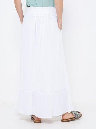 Bílá maxi sukně s kapsami CAMAIEU