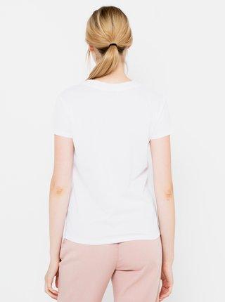 Biele tričko s potlačou CAMAIEU