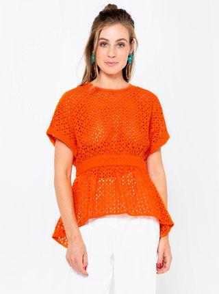 Oranžová halenka CAMAIEU