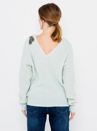 Světle modrý svetr s příměsí vlny CAMAIEU