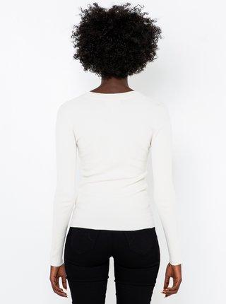 Biele tričko s dlhým rukávom CAMAIEU