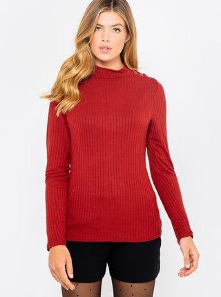 Červené žebrované tričko CAMAIEU