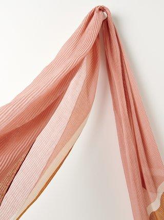 Ružová plisovaná šatka CAMAIEU