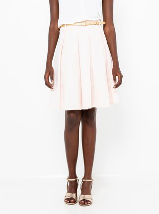 Krémová skladaná sukňa CAMAIEU