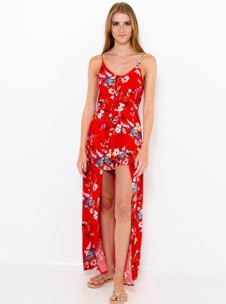 Červený kvetovaný overal so sukňou CAMAIEU