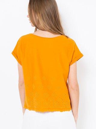 Hořčicové tričko CAMAIEU