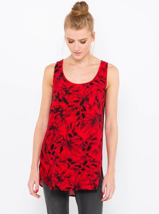 Červený květovaný top CAMAIEU