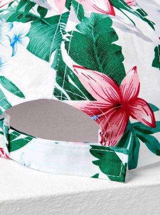 Bílá vzorovaná kšiltovka CAMAIEU