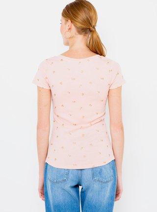 Ružové vzorované tričko CAMAIEU