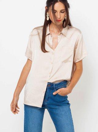 Svetloružová košeľa CAMAIEU